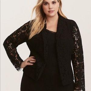 Torrid Lace Blazer | Black | 1X
